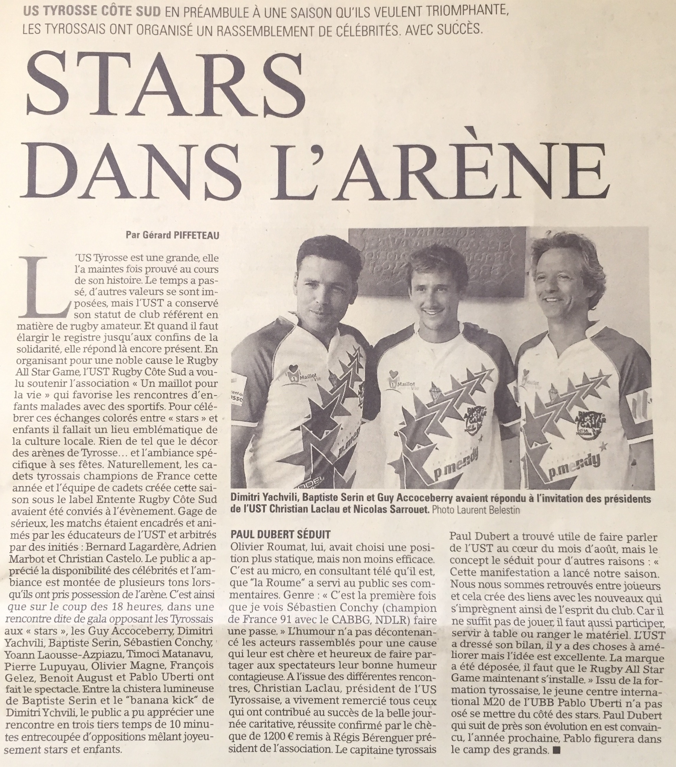 Le Rugby All Star Game sur le Midi Olympique